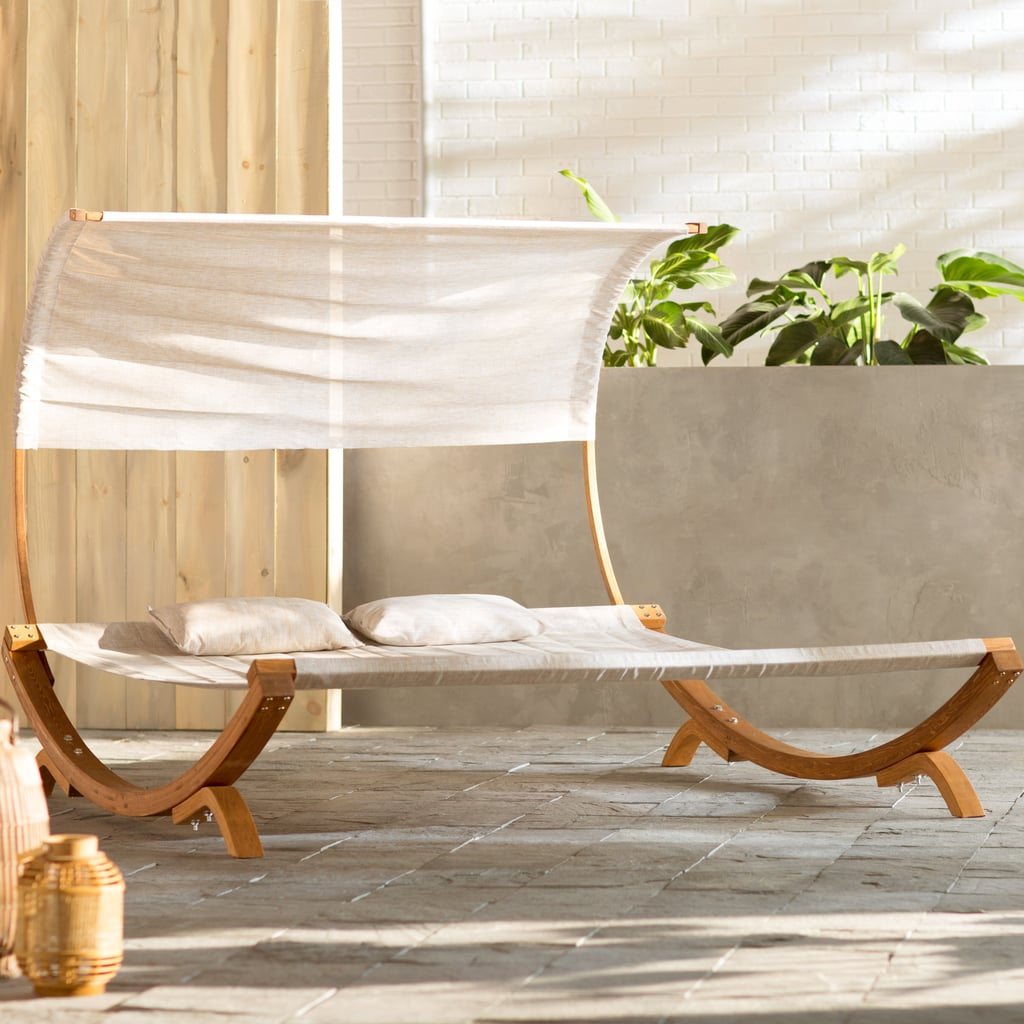 Arlmont & Co. Maura Double Chaise Lounge with Cushion