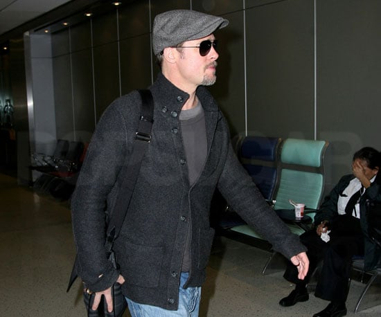 Photo of Brad Pitt at NYC's JFK Airport
