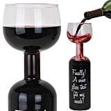 Wine Bottle Wine Glass ($25, originally $30)