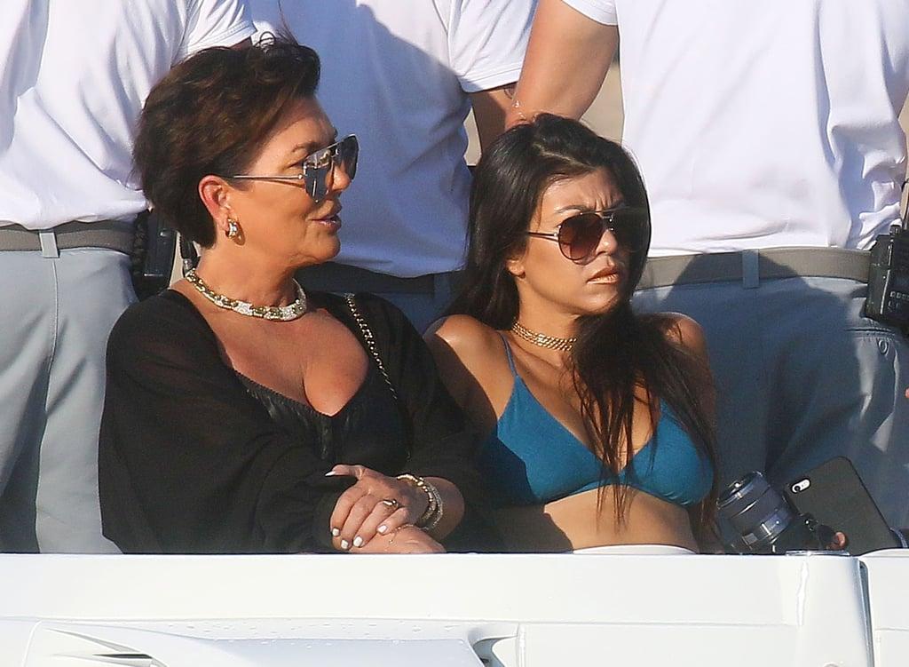 Kourtney Kardashian on Vacation in Italy Sept. 2016
