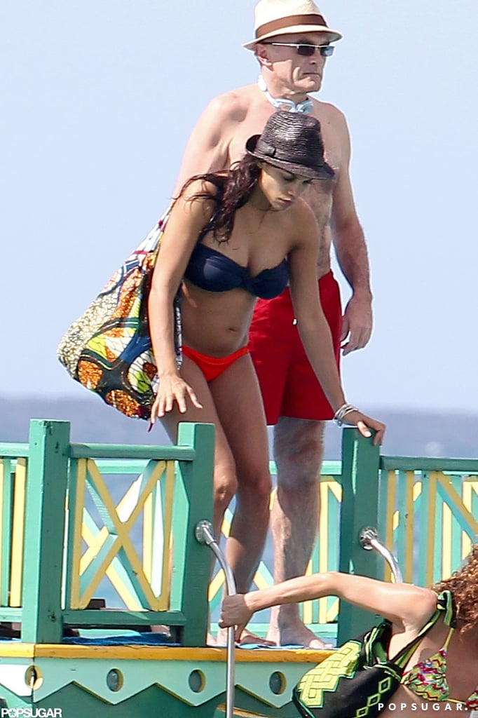 Rosario Dawson and Danny Boyle were on vacation in Barbados.