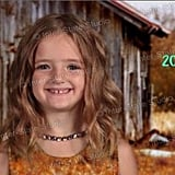 Girl's School Picture Day Green Screen Mistake