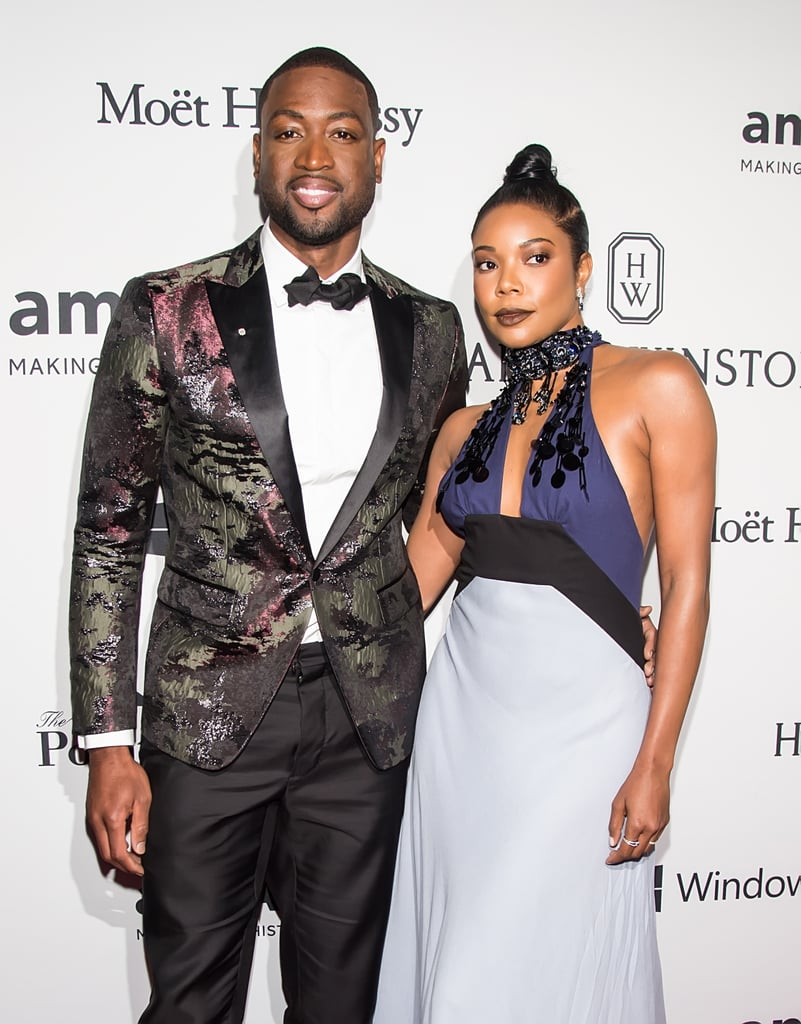 Picture-perfect couple Gabrielle Union and Dwyane Wade arrived in style for the amfAR Inspiration Gala in NYC on Thursday night. The couple let cameras document their time getting ready together before they hit the red carpet and struck a number of fierce poses. Inside, Dwyane and Gabrielle took the stage to present an award and mingled with Naomi Campbell, Karrueche Tran, and Dancing With the Stars winner Nyle DiMarco. Their swanky night out is just the latest in a ton of enviable moments between the two, who have been married since August 2014 and share Dwyane's three sons.