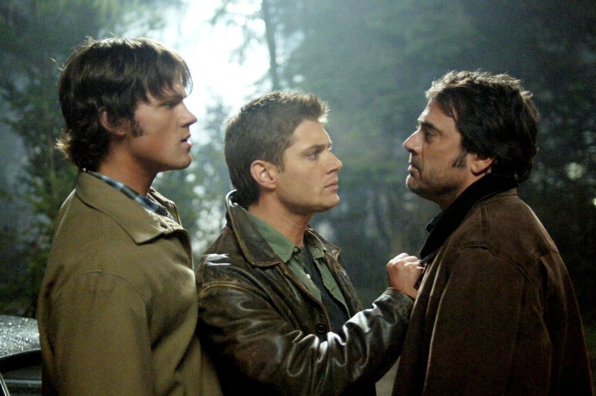 SUPERNATURAL, Jared Padalecki, Jensen Ackles, Jeffrey Dean Morgan, 'Dead Man's Blood', (Season 1, aired April 20, 2006), 2005-, photo: Sergei Bachlakov /  Warner Bros. / Courtesy: Everett Collection