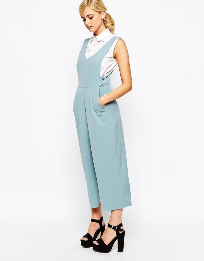 Dahlia Overall Jumpsuit With Side Button Detail ($108)