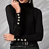 Zulily Embellished-Sleeve Turtleneck