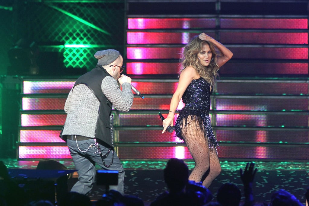 Jennifer Lopez Performs With Marc, Cuddles With Casper