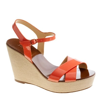 These wedges come in practically every color, not to mention the fact that a patent sheen means they're also cocktail-party worthy.  J.Crew Lila Patent Platform Wedges ($80, originally $168)