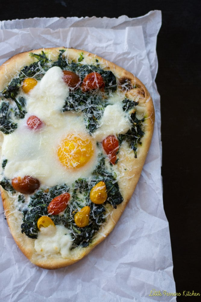 Kale and Egg Breakfast Pizza