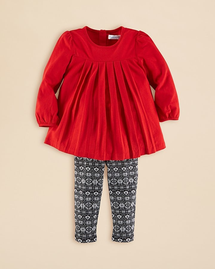 Ralph Lauren Pleated Tunic & Print Leggings Set