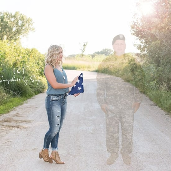 Teen Includes Late Military Father in Senior Photos