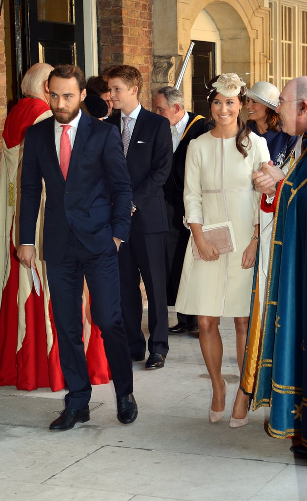 Pippa Middleton and James Middleton attended the christening.