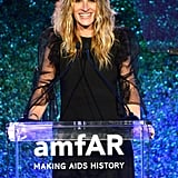 At the 2017 amfAR Gala, Julia gave a big grin while speaking on stage.