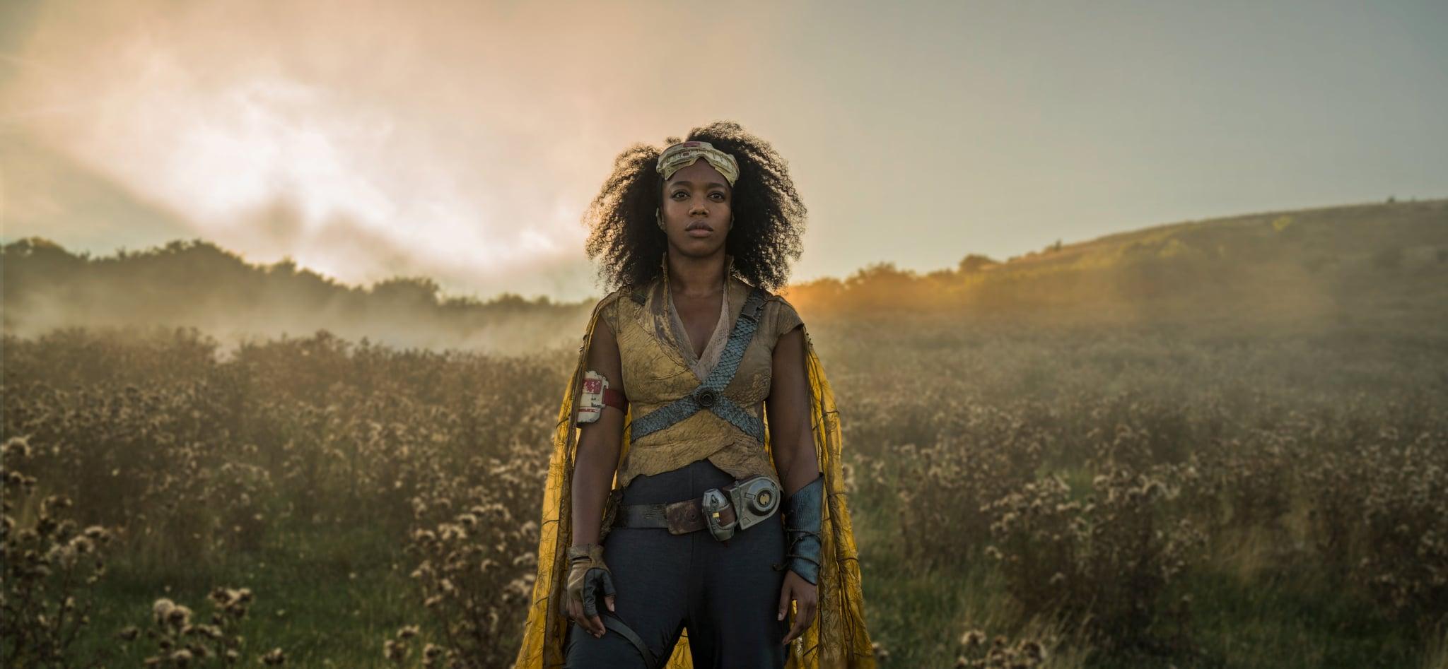 Naomi Ackie is Jannah in STAR WARS:  THE RISE OF SKYWALKER.
