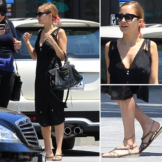 Nicole richie black lace dress