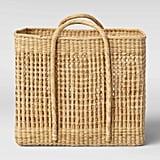 Open Weave Square Basket
