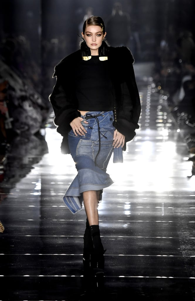Gigi Hadid on the Tom Ford Fall 2020 Runway