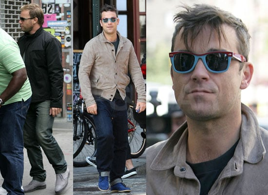 Photos of Robbie Williams and Gary Barlow in NYC