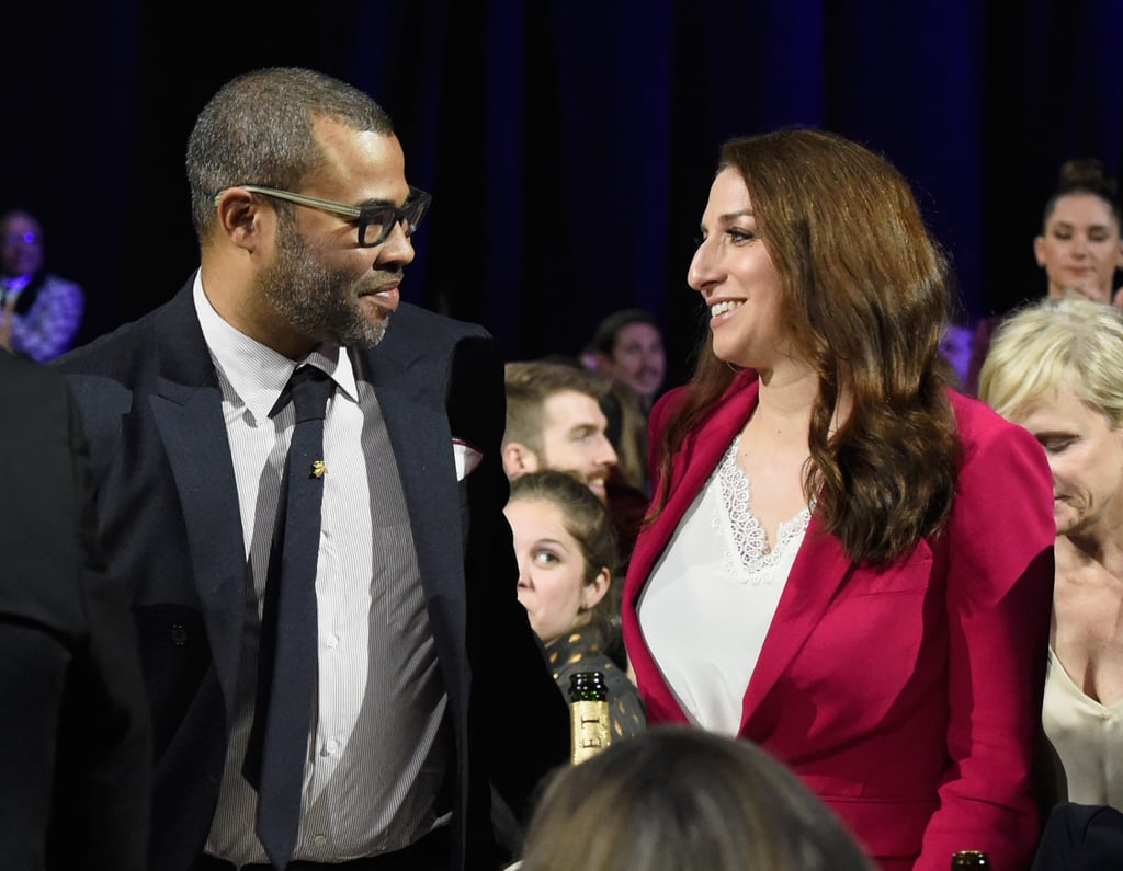 Pictured: Jordan Peele and Chelsea Peretti