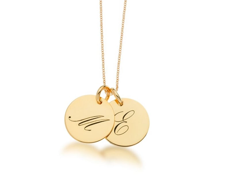 Tiny Tags Initial Script Necklace