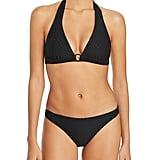 Shoshanna Diamond Eyelet Halter Bikini Top