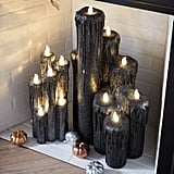 Halloween Black Cluster Oversized LED Pillar Candles