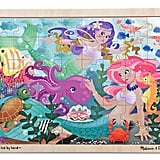 Melissa & Doug Mermaid Fantasea Wooden Jigsaw Puzzle With Storage Tray