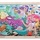 Melissa & Doug Mermaid Fantasea Wooden Jigsaw Puzzle With Storage Tray