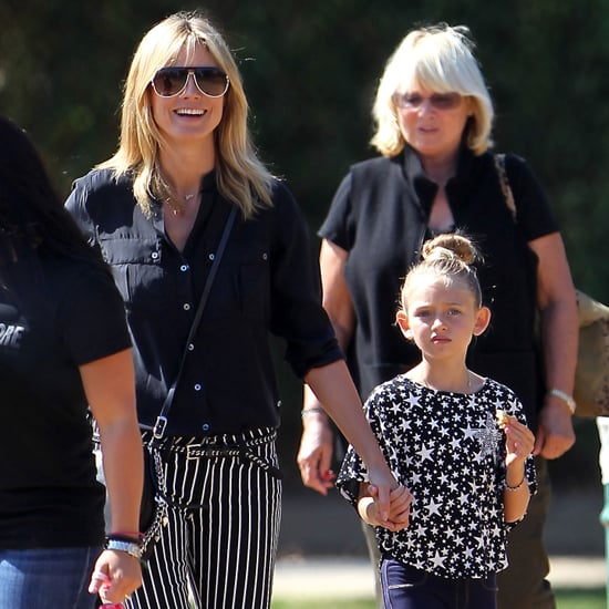 Heidi Klum at a Soccer Game With Her Family