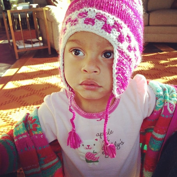 Adalaide Kelley got ready for some cooler weather with an adorable knit hat. Source: Instagram user joshbkelley