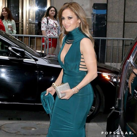 Jennifer Lopez Teal Hamel Dress at a Wedding