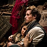 Samantha Barks and Eddie Redmayne in Les Misérables.