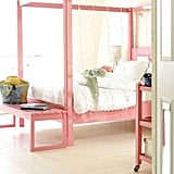 You can get away with light pink as an adult when the room is otherwise neutral and clean-lined. This room manages to look modern, fresh, fun, and flirty. Source