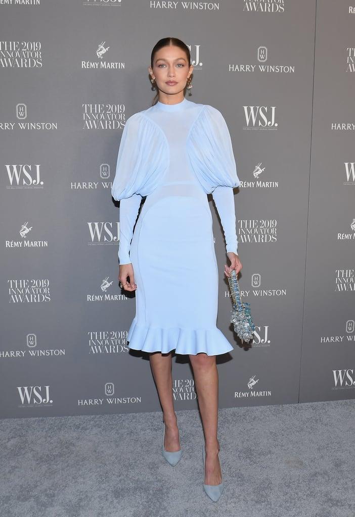 Gigi Hadid in Burberry at the WSJ. Magazine 2019 Innovator Awards