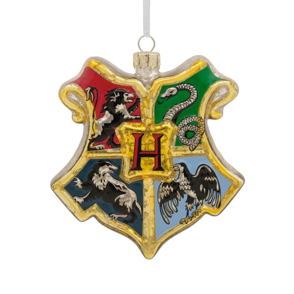 Hallmark Harry Potter Hogwarts Houses Glass Shield Christmas