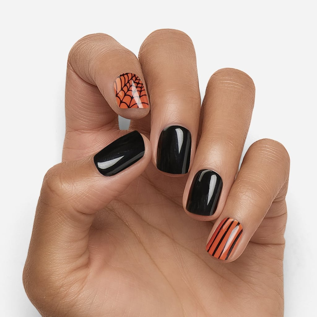Dashing Diva Press On Nails in Orange You Scared