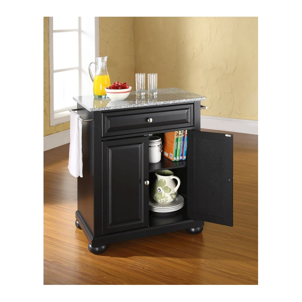Alexandria Solid-Granite Top Portable Kitchen Island