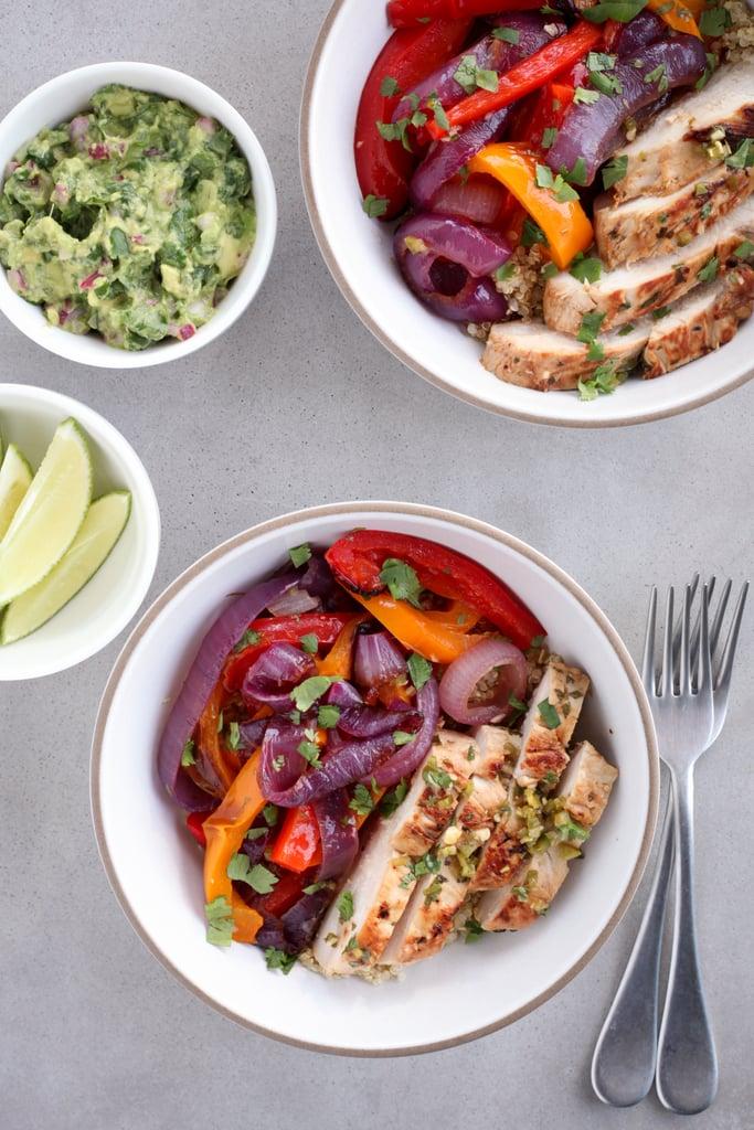 Chicken Fajita Bowls With Quinoa Easy Work Lunch Recipes