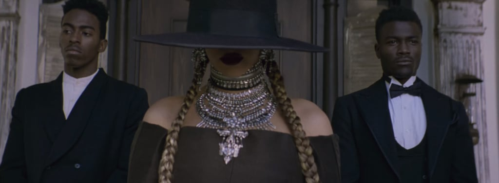 Her All-Black Look With Jewels