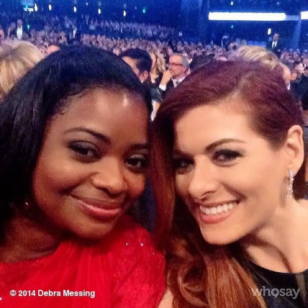 Debra Messing took a selfie with Octavia Spencer.