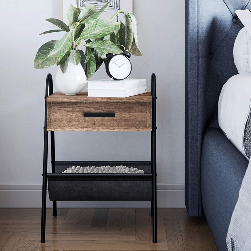 Nathan James Hugo Nightstand Accent Rustic Wood Table
