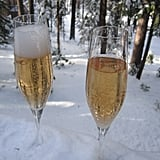 When the fizz subsides, fill to the top of each glass. Enjoy!