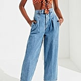 BDG High-Rise Pleated Carrot Jean