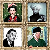 The Burtka-Harris Family Dressed as Famous Paintings and Artists
