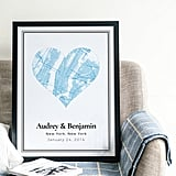 You Can Create a Map of Your Love Story With These Adorable Prints