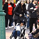 Sandra Bullock had Louis in his stoller for an afternoon at Disneyland.