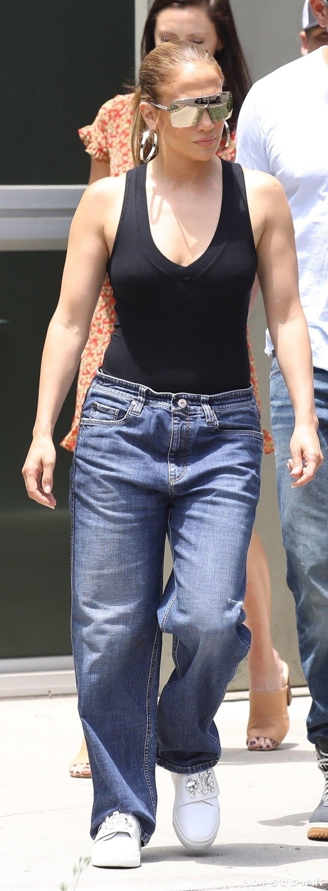 Jennifer Lopez And Arod Denim July 2018 Popsugar Fashion