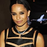 Zoe Kravitz softened her rocker look with a sleek hairstyle and pink lips. But she kept her edge going with a black smoky eye.