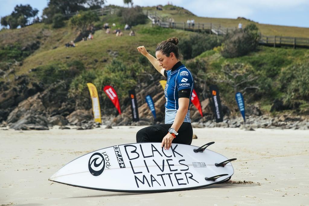Surfer Tyler Wright Kneels For Black Lives Matter