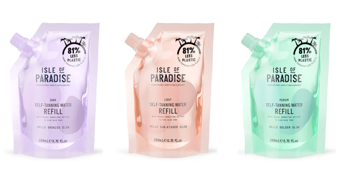 Isle of Paradise's New Tanning Water Refill Pouches Contain 81% Less Plastic Than the Bottles